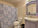 The home features 2.5 bathrooms for guests to use.
