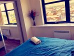 Spacious double bedroom with a city view!!