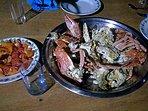 Au menu : salade de crabes péchés le matin.