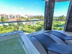 Your private patio with Jacuzzi