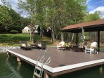 New Dock and table and chairs with umbrella coming for September 2017