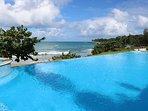 infinity pool overlooking ocean