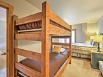 This bedroom has additional sleeping, perfect for the kids or additional guests.