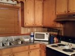 Microwave, stove