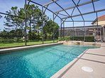 30ft (optionally heated) pool and spa overlooking to lake and water views.