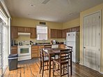 The fully equipped kitchen has everything you'll need to prepare a delicious home-cooked meal.