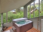 Sit back and relax in the private hot tub, ease your muscles in the sauna, or walk to the ski resort for mountain-top...