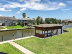 The home is situated right on the canal and has a private boat dock.