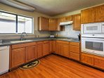 Prepare your favorite recipes in the spacious fully equipped kitchen.