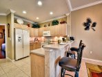FULL KITCHEN WITH ALL APPLIANCES TABLE WARE AND UTENSILS.