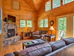 This 1,350-square-foot, 2-bedroom, 2-bathroom vacation rental cabin is the perfect Appalachian escape.