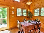 Step off of the porch into the 'Mane Stay Cabin' and let your worries melt away.