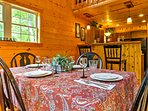Enjoy formal meals at your 4-person dining room table.