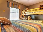 Children and close friends love the Twin-over-Twin Bunk Beds in the cabin.