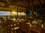 Sunrise at Suma restaurant, our restaurant at the retreat,