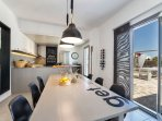 dining table & open space kitchen