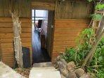 Entrance door to the Hummingbird Hangout