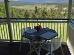 Verandah dining with valley view