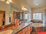 The en-suite master bathroom is a real treat!