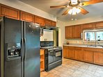 The kitchen comes complete with all your basic appliances and plenty of counter space.