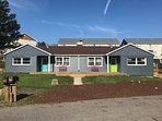Front view of property-128 is blue door