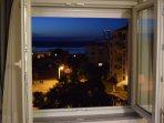 bedroom night ocean view and street view
