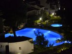 Infinity pool - night view from the apartment