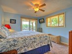 Two guests will sleep comfortably in the king-sized bed in the first bedroom.