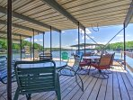 Enjoy lake days on the private dock.