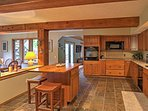 The group's cook will love creating home-cooked meals from this fully equipped kitchen!