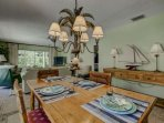 Enjoy a family meal at your dining table for 6 located just off of the kitchen.