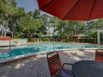 Take a dip in the large and heated community pool or enjoy relaxing and reading a book poolside!