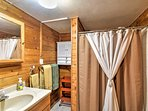 Wake up and wash off with a shower in the home's newly remodeled bathrooms to prepare for another exciting day!