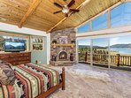 Master Bedroom with Views of Lake