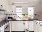 Spacious open kitchen with 2 windows, not many high raise apt kitchen has windows !! a rare fine