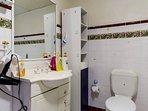 Main Bath Room with bath tub, shower, heater provided