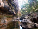 The Drip gorge is one of many stunning places to explore, upstream from property - see walk map