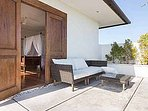 Penthouse second balcony with relaxing set for sunset viewing