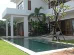Villa and pool from daybed