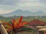 Volcano views from Penthouse balcony