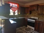 fully equipped kitchen to prepare meals and breakfast