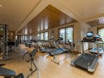 Every piece of equipment you could want in the hotel GYM