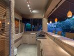 Outdoor Kitchen with Gas Grill and Sink