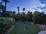 Private Putting Green in Back Yard