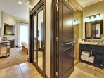 Master Bedroom Hallway and Bath