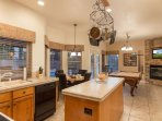 Kitchen, Breakfast Nook and Game Room