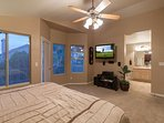 Master Bedroom with Wall-mounted TV