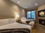 2 Queen Beds, Fireplace, Plasma TV