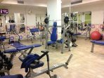 Gym, available to guests.