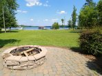 Firepit Patio looking out at the lake.  Imagine making smores or just warming up by the fire in Fall